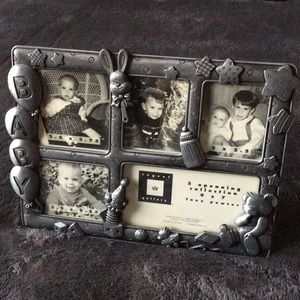 Standing photo frame for child photos